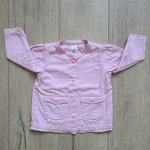 (2/$15) Old Navy Baby Pink Cargo Jacket